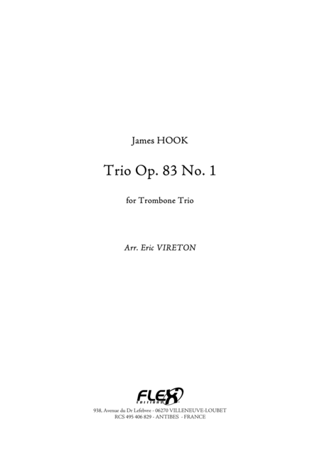 Trio Opus 83 No. 1