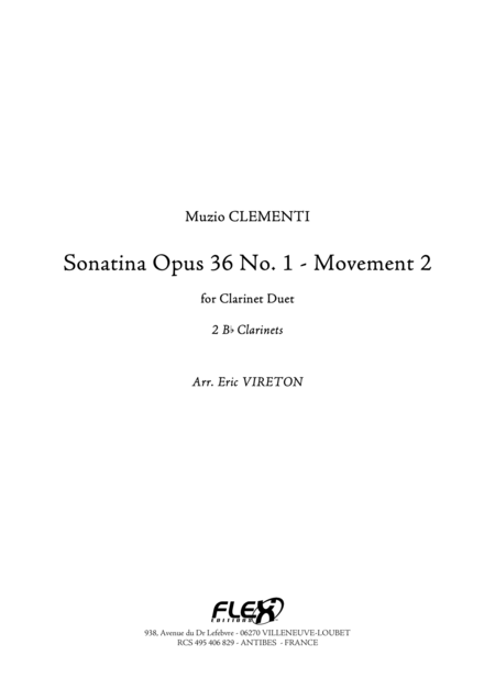Sonatine Op 36, No. 1 - Movement 2