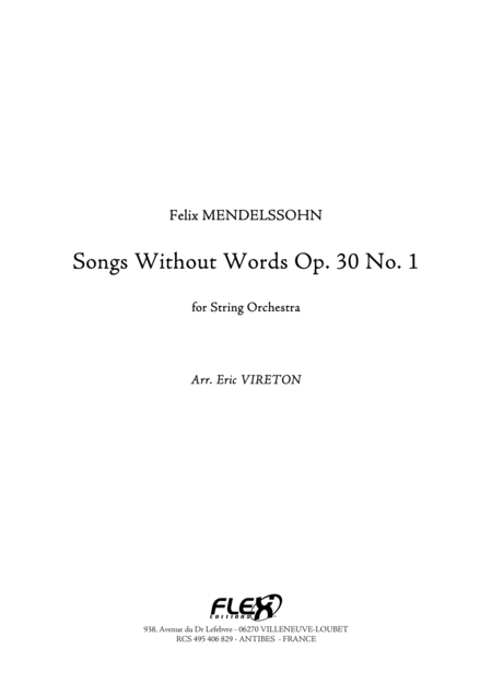 Songs Without Words Opus 30 No. 1