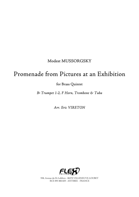 Promenade - Pictures at an Exhibition