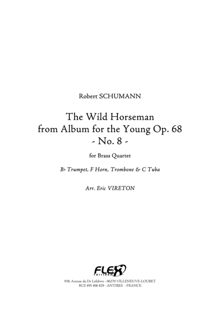 The Wild Horseman - from Album for the Young, Op. 68, No. 8