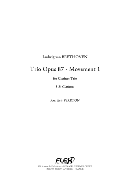 Trio Opus 87 - Movement 1