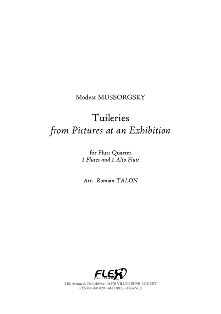 Tuileries from Pictures at an Exhibition