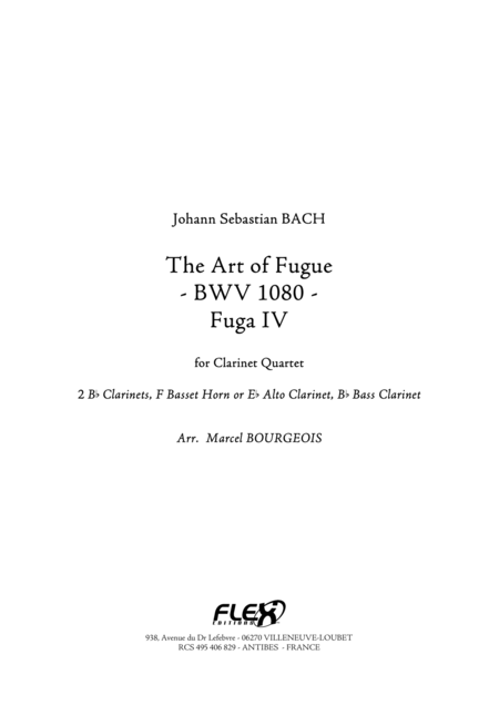 The Art of Fugue, BWV1080 Fuga IV
