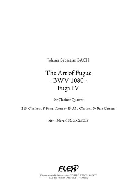 The Art of Fugue, BWV1080 Fuga IV