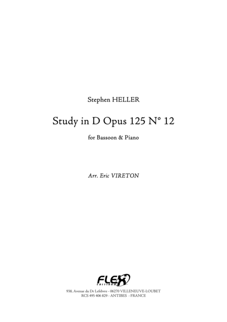 Study in D, Op. 125, No. 12