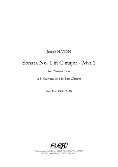Sonata No. 1 in C Major - Movement 2