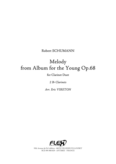 Melody - from Album for the Young, Op. 68, No. 1