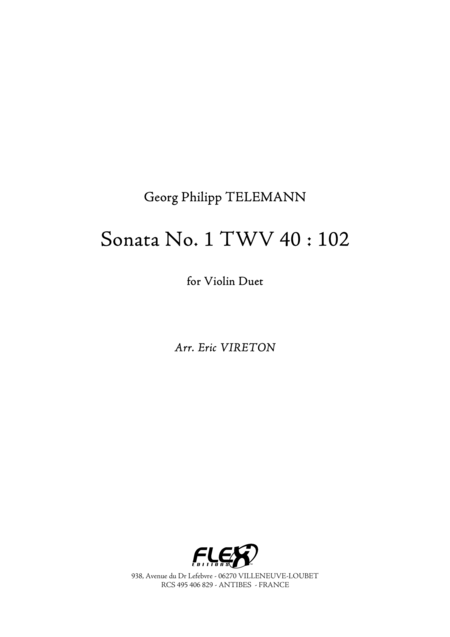 Sonata No. 1 TWV 40 : 102