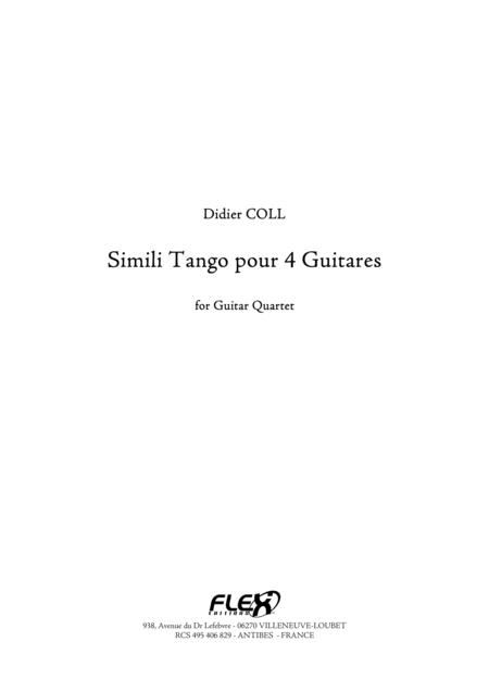 Simili Tango for 4 Guitars