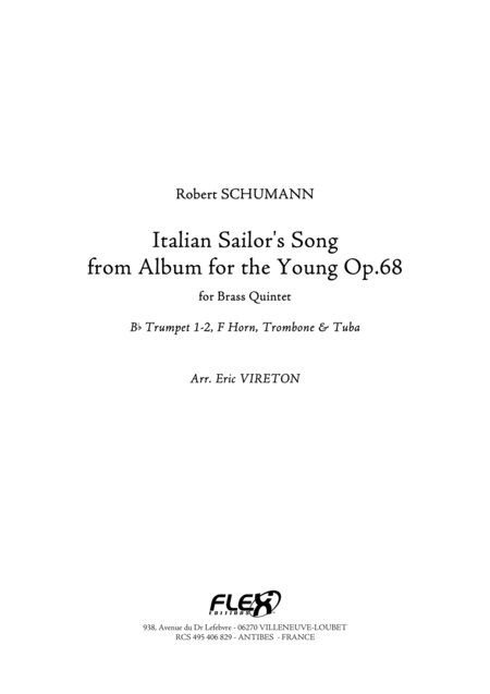 Sailor's Song - from Album for the Young, Op. 68, No. 37