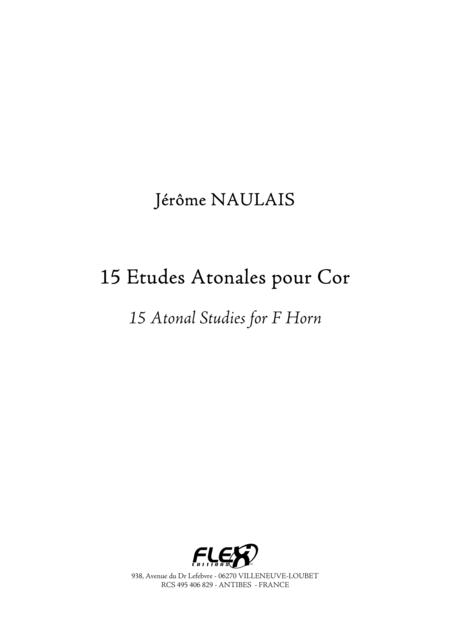 15 Atonal Studies for F Horn