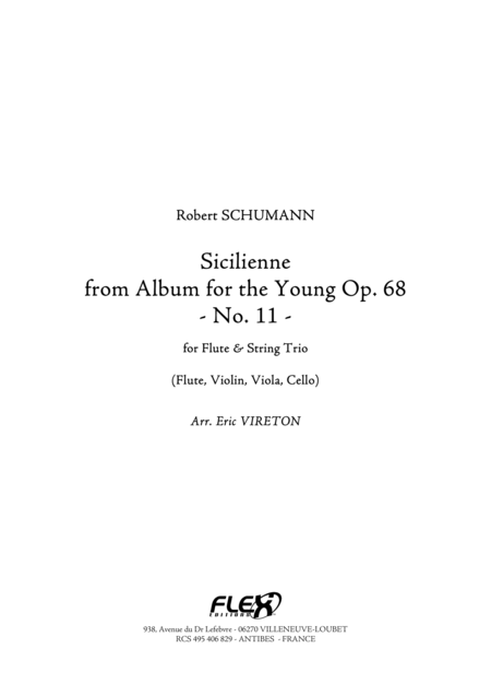 Sicilienne from Album for the Young Opus 68 No. 11