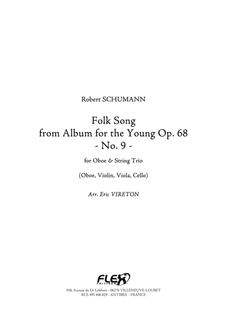 Folk Song - from Album for the Young, Op. 68, No. 9