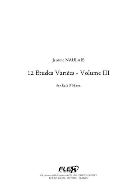 12 Etudes Variees