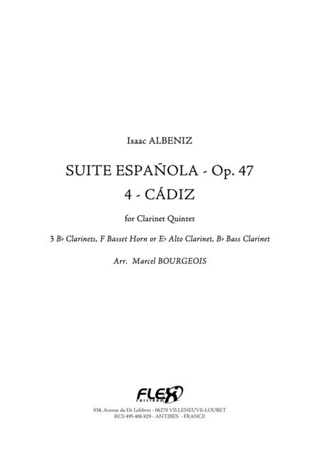 Suite Espanola, Op. 47, 4: Cadiz (Cancion)