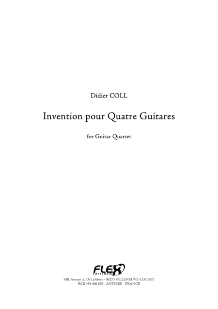 Invention for 4 Guitars