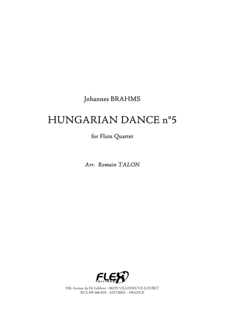 Hungarian Dance, No. 5