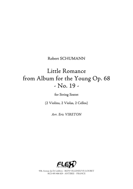 Little Romance - from Album for the Young, Op. 68, No. 19