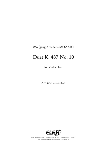 Duet, K 487, No. 10