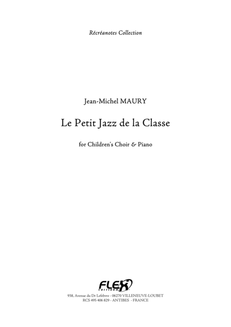 Le Petit Jazz de la Classe - Piano Reduction