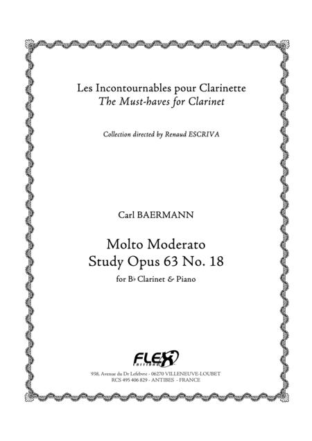 Molto Moderato, Op. 63, No. 18