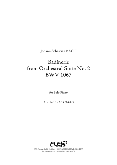 Badinerie from Orchestral Suite No.2 BWV1067