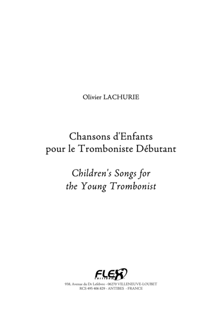 Children's Songs for the Young Trombonist