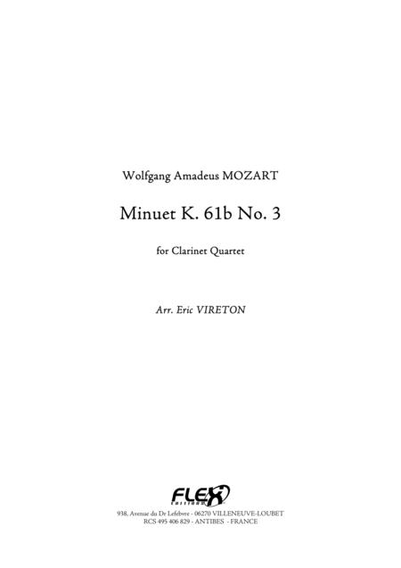 Minuet K. 61b No. 3