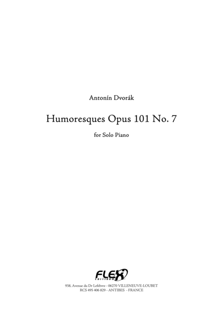 Humoresques, Op. 101, No. 7