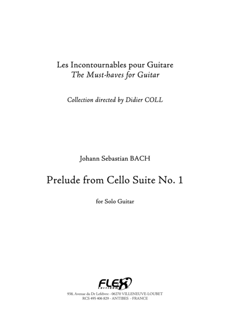 Prelude from Cello Suite No. 1