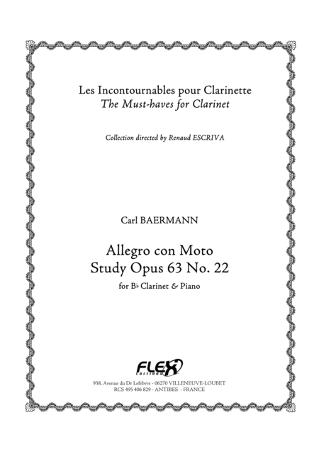 Allegro con Moto, Op. 63, No. 22