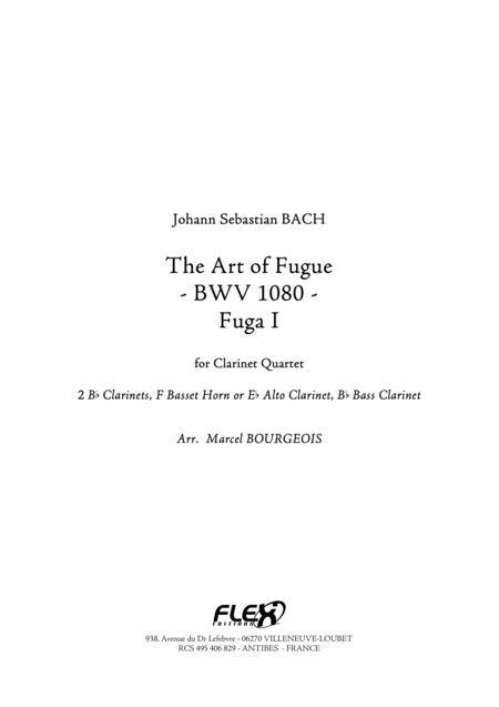 The Art of Fugue, BWV1080 Fuga I