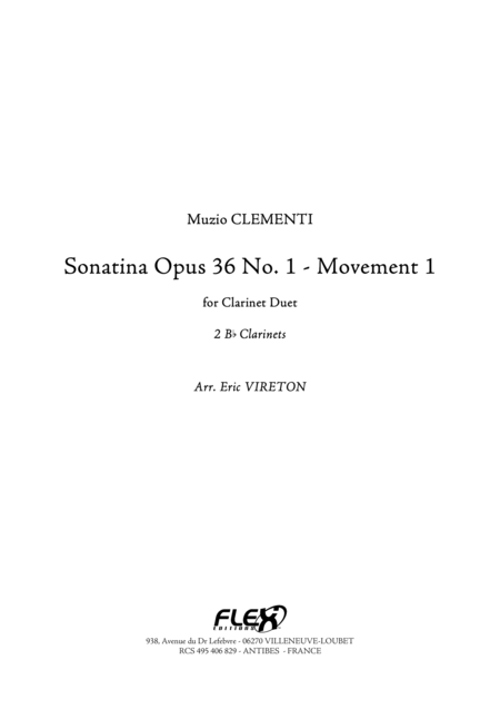 Sonatine Op 36, No. 1 - Movement 1