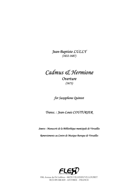Cadmus and Hermione Overture