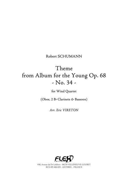 Theme from Album for the Young Opus 68 No. 34