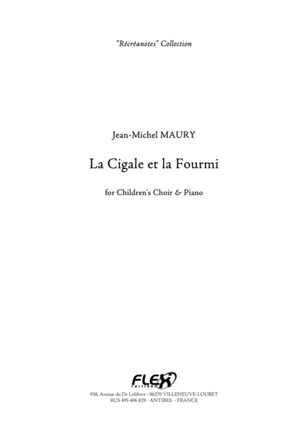 La Cigale et la Fourmi - Piano Reduction