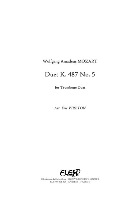 Duet, K 487, No. 5