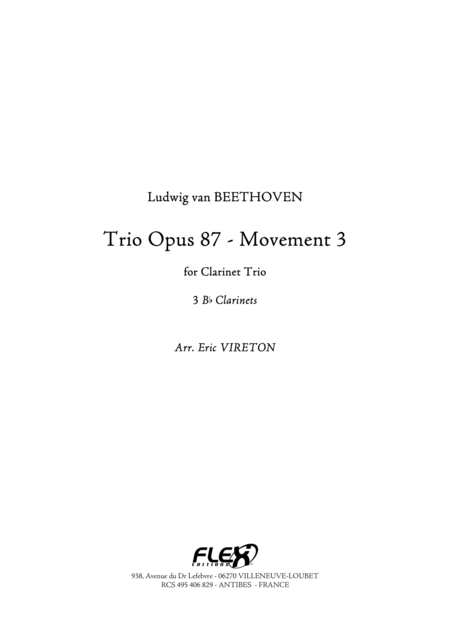 Trio Opus 87 - Movement 3