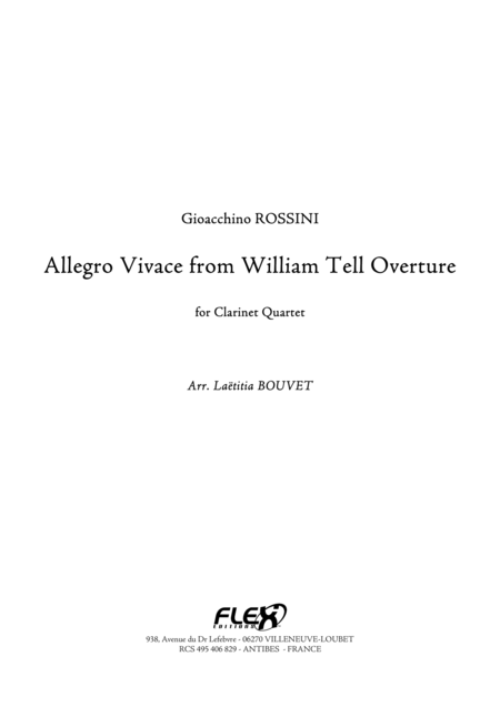 Allegro Vivace from William Tell Overture