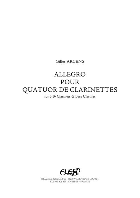 Allegro for Clarinet Quartet