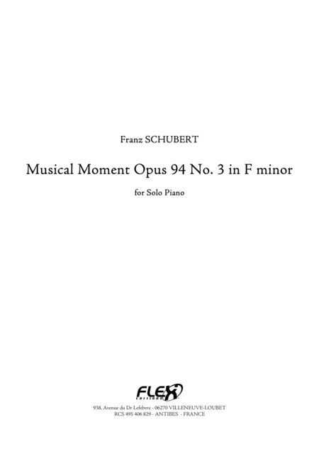 Musical Moment, Op. 94, No. 3 in F minor