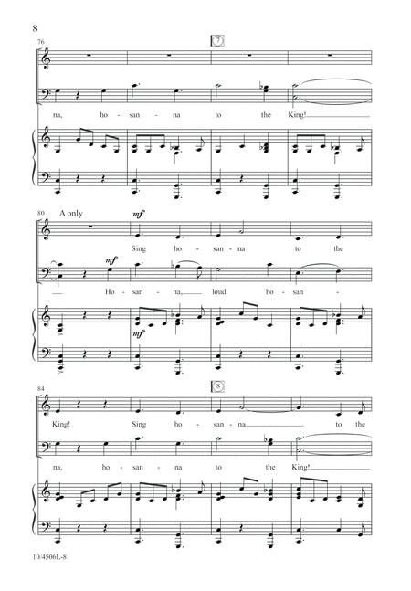 Hosanna, Sing Hosanna!