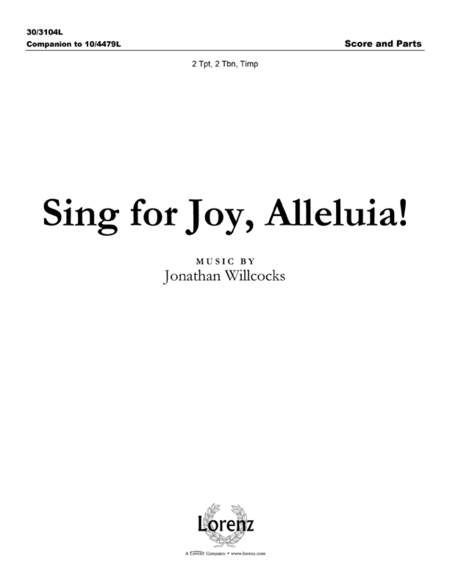 Sing for Joy, Alleluia! - Brass and Percussion Score and Parts