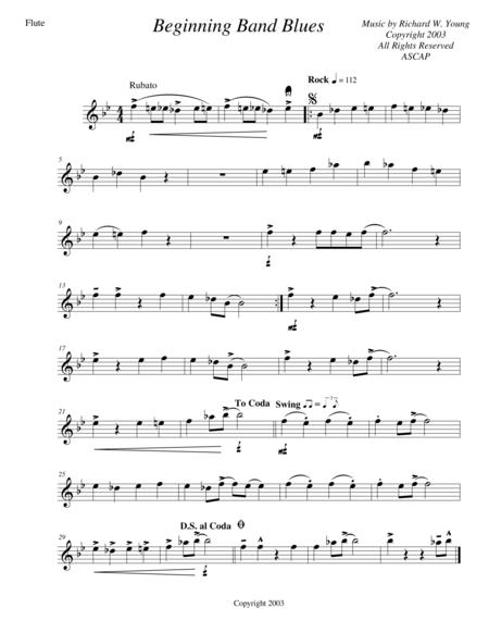 download beginning band blues flute sheet music by richard wellington wan young sheet music plus. Black Bedroom Furniture Sets. Home Design Ideas