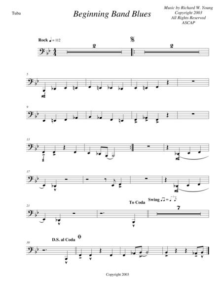 Beginning Band Blues- tuba