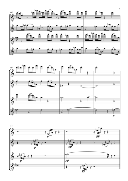 'Voices' for four flutes