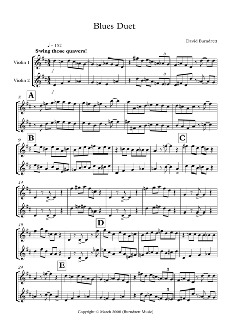 Blues Duet for Violin