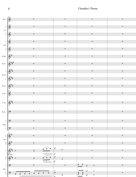 Chandler's Theme--Score Only