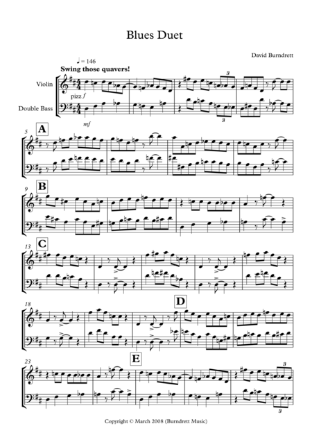 Blues Duet for Violin and Double Bass